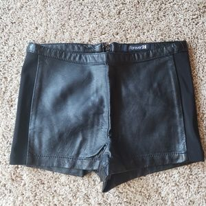 Leather shorts size XS